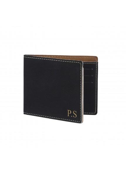 Leatherette Black Wallet