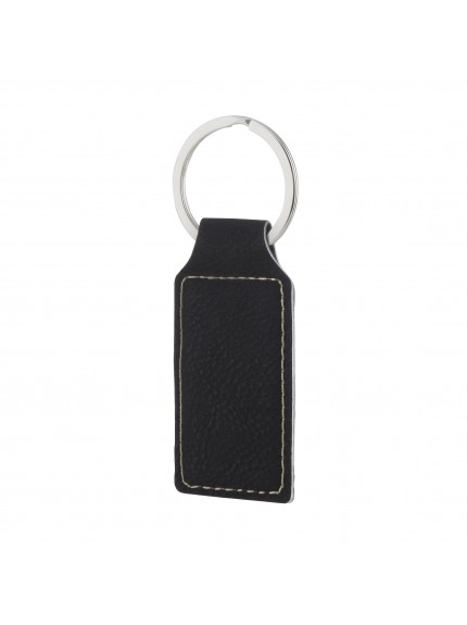 Leatherette Black Key Ring