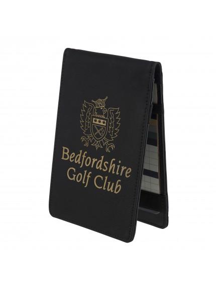 Leatherette Black Golf Score Card Holder