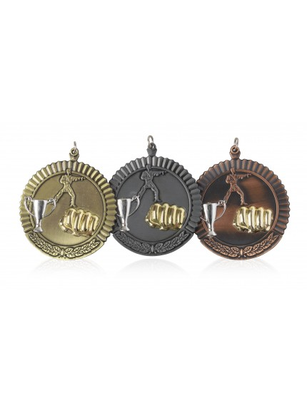 MB (P) 2in Martial Arts Medal - 3 Colours