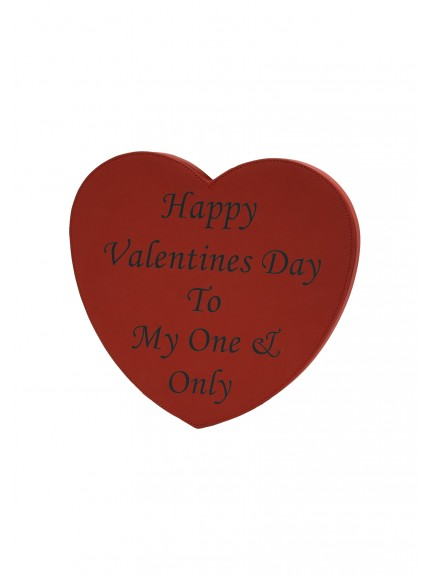 LZXL Red with Black Heart Wall Plaque