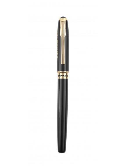 13.5cm Roller Ball Shiney Blk Pen