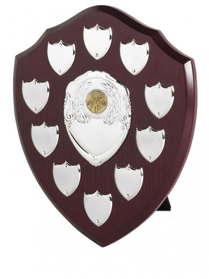 25cm Shield with 10 Side Shields