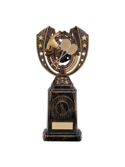 Maverick Badminton Frontier Award Antique Bronze & Gold 250mm