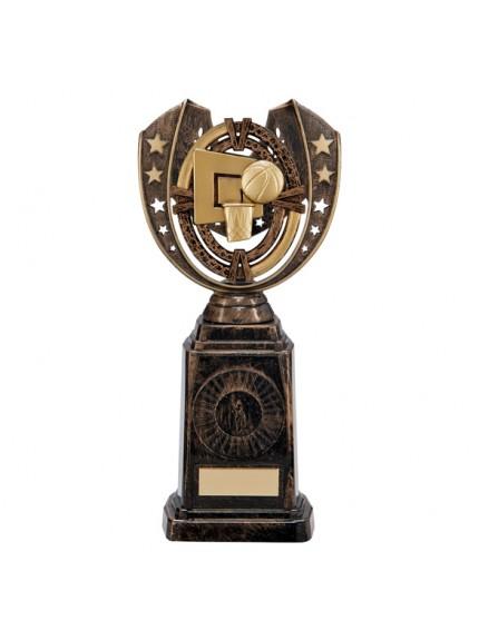 Maverick Basketball Frontier Award Antique Bronze & Gold 250mm