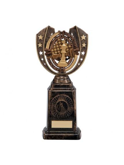 Maverick Chess Frontier Award Antique Bronze & Gold 250mm