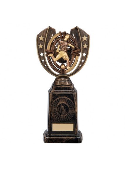 Maverick Football Frontier Award Antique Bronze & Gold 250mm