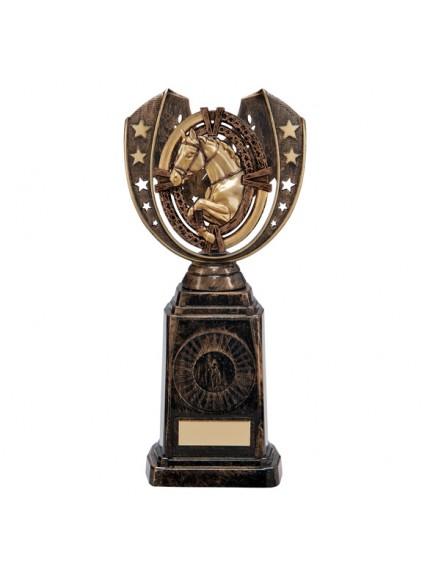 Maverick Equestrian Frontier Award Antique Bronze & Gold 250mm
