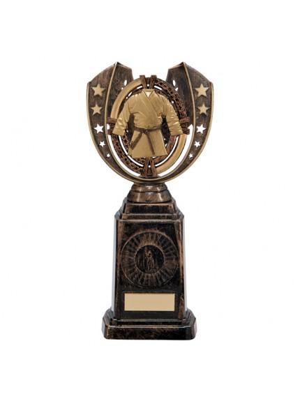 Maverick Karate Frontier Award Antique Bronze & Gold 250mm