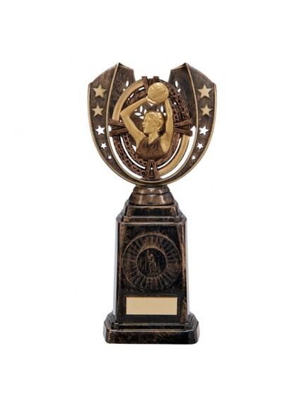 Maverick Netball Frontier Award Antique Bronze & Gold 250mm