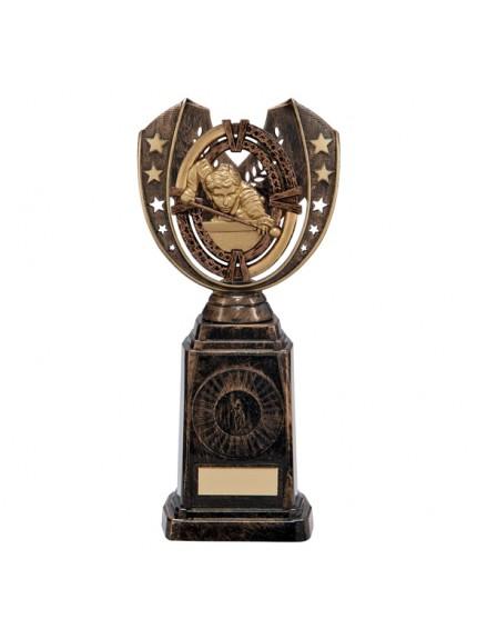 Maverick Snooker Frontier Award Antique Bronze & Gold 250mm
