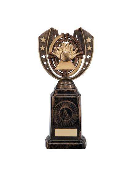 Maverick Ten Pin Frontier Award Antique Bronze & Gold 250mm