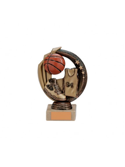 Renegade Basketball Legend Award Antique Bronze & Gold - Available in 5 Sizes