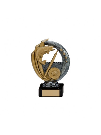 Renegade Fishing Legend Award Gunmetal & Gold - Available in 5 Sizes