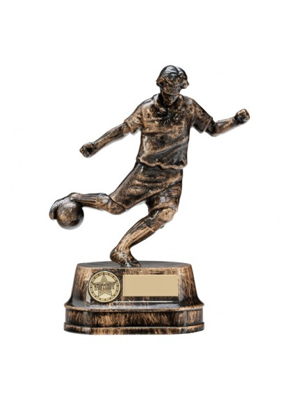 Legend Football Trophy Antique Gold 19.5cm