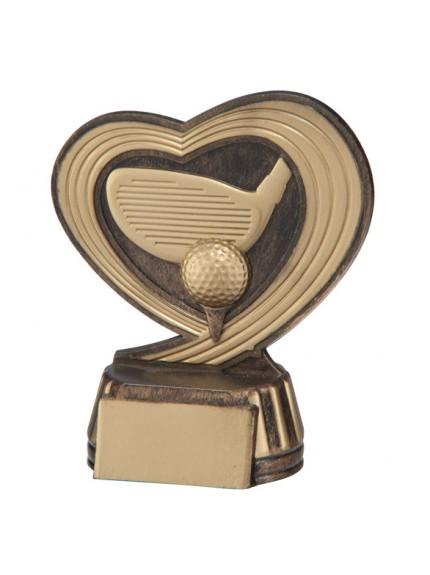 Slipstream Golf Trophy Antique Bronze & Gold 120mm