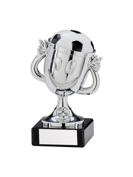 Big Fun Football Plastic Silver Trophy Silver 120mm