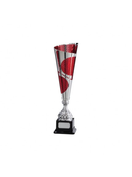Quest Laser Cut Silver & Red Cup - Available in 5 Sizes