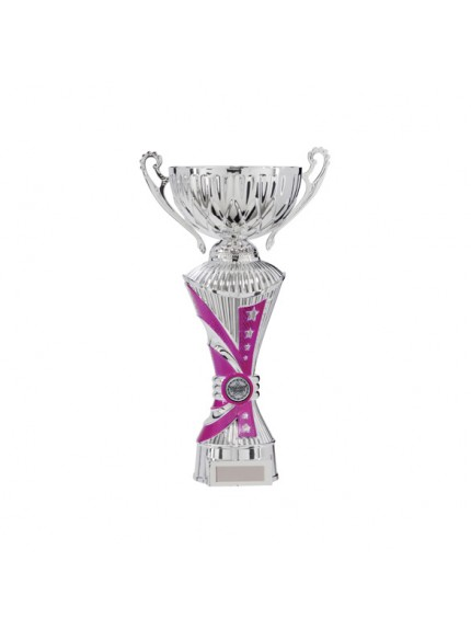 All Stars Heavyweight Cup Pink & Silver - Available in 7 Sizes
