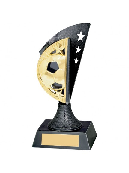 Blaze Football Plastic Award Gunmetal & Scorched Gold 150mm