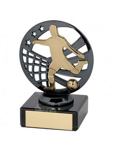 Ranger Football Trophy Gunmetal & Gold
