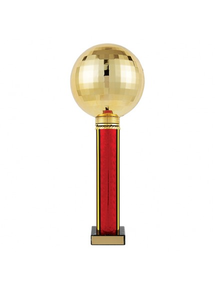 Planet Dance Tower Rapid 2 Trophy Gold & Red - 5 Sizes