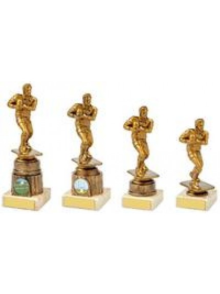 Antique Gold Male Rugby Figure Award - 4 Sizes