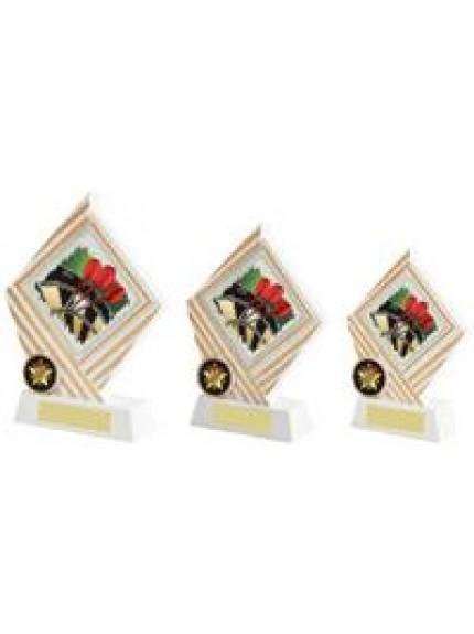 White/Gold Darts Diamond Resin Award - 3 Sizes
