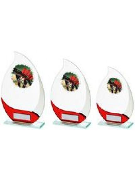 Jade/Red Glass Darts Award - 3 Sizes
