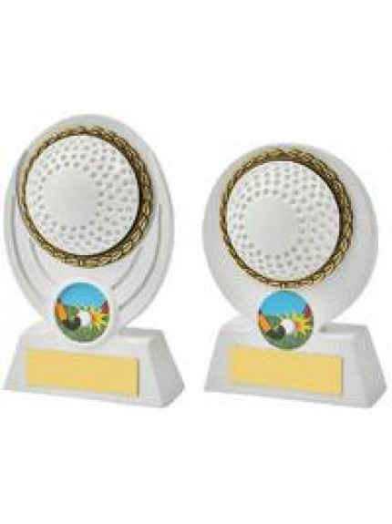 White Hockey Ball Resin Award - 2 Sizes