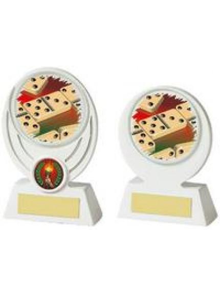 White Dominos Resin Award - 2 Sizes