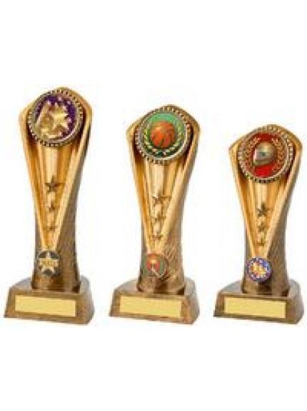Antique Gold Multi Sport Cobra Trophy - 3 Sizes