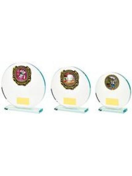 Circular Jade Glass Multi Sport Award -3 Sizes