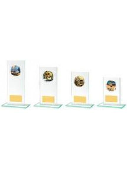 Rectangular Jade Glass Multi Sport Award - 4 Sizes