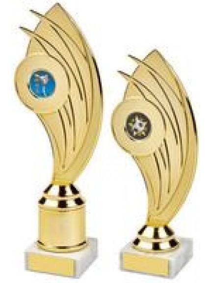 Gold Swoosh Curve Holder Trophy - 2 Sizes