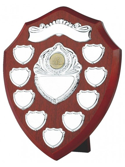 Annual Wood Shield Award With Engraving Scroll