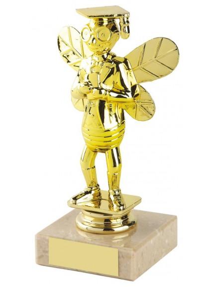 15cm Spelling Bee Figure Trophy In Coloured