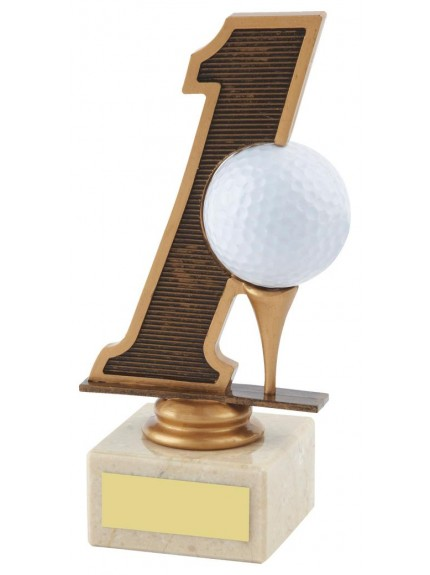 16cm Golf Hole In One Trophy In Coloured