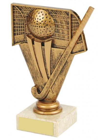 Gold Hockey Figure Trophy In Gold