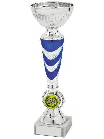Silver & Blue Trophy Cup