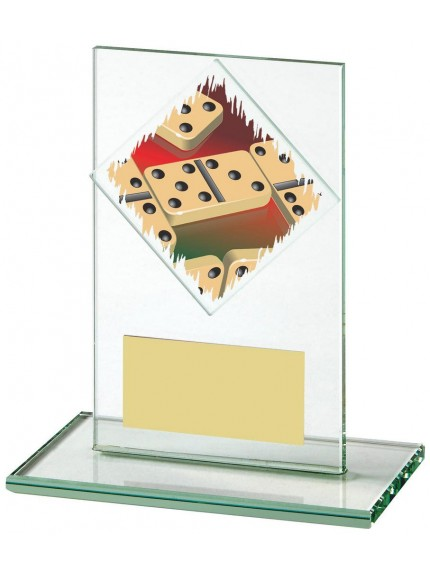 Jade Glass Upright Award For Dominoes