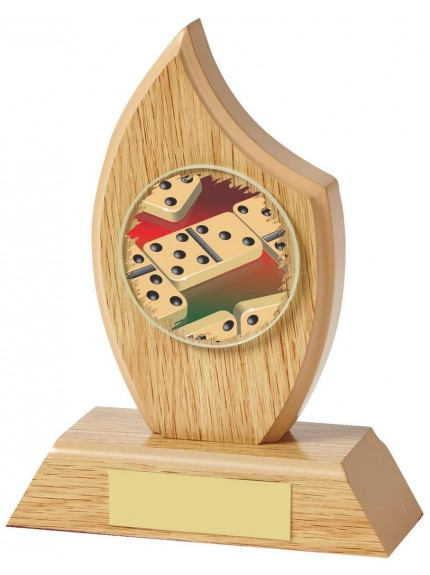 Light Wood Sail Award For Dominoes