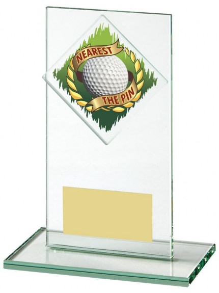 14cm Jade Glass Nearest The Pin Golf Award