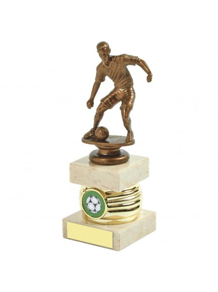 Gold Men's Football Column Trophy - Available in 3 sizes