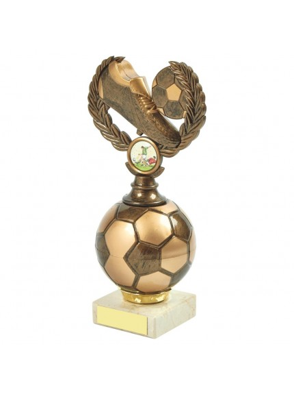 Gold Boot & Ball Football Trophy - Available in 3 sizes