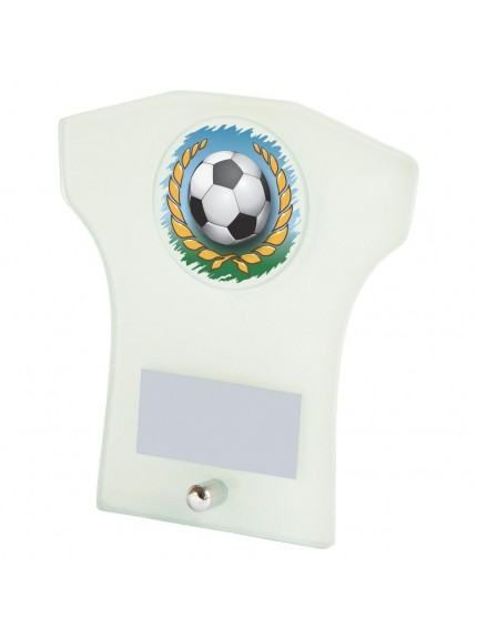 White Glass 'Shirt' Football Award - Available in 3 sizes
