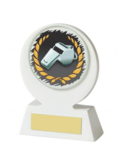 11cm White Resin Referee's Whistle Award