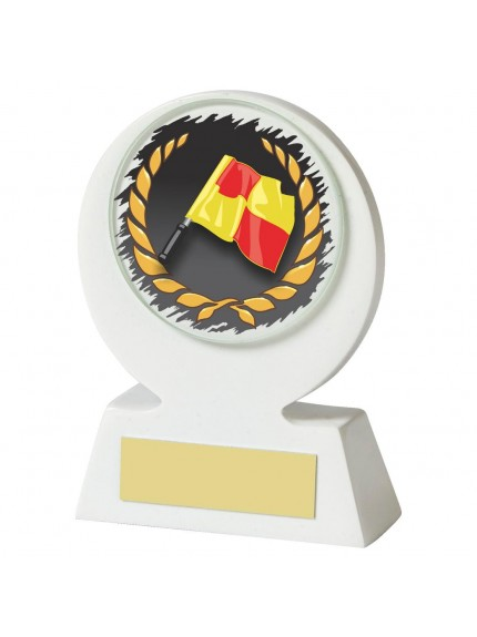11cm White Resin Linesman Award