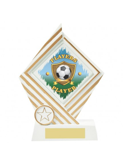 19cm White Resin Football Award - Players' Player
