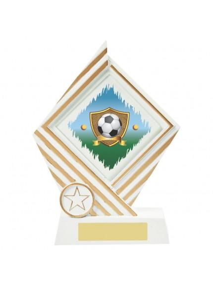 19cm White Resin Diamond Football Award